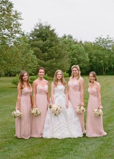 Long Pink Bridesmaids Dresses,  Oh So Classy Events