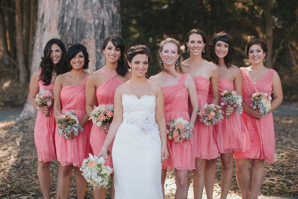 Coral Short Bridesmaids Dresses,  Oh So Classy Events