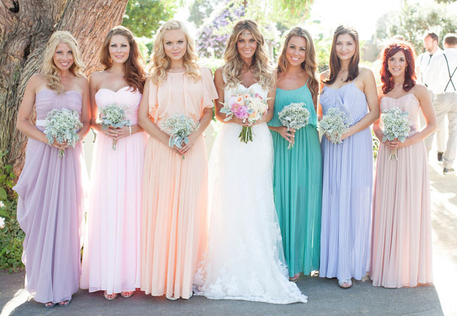 Pastel Bridesmaids,  Oh So Classy Events