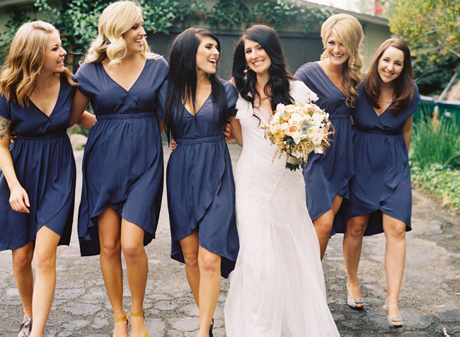 Navy Short Bridesmaids Dresses,  Oh So Classy Events