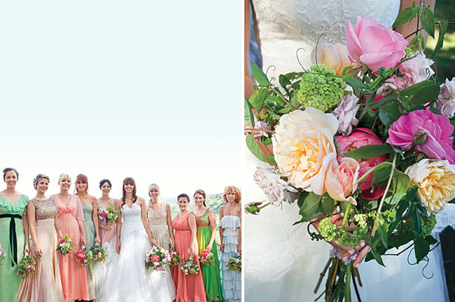 Matching Bridesmaids Dresses to Bouquet, Oh So Classy Events