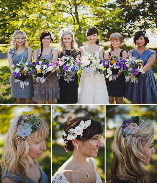 Bridesmaids Flower Headbands,  Oh So Classy Events