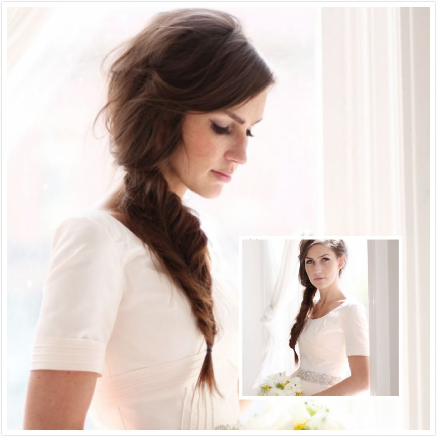 Fishtail-Braid-Wedding-Hairstyle