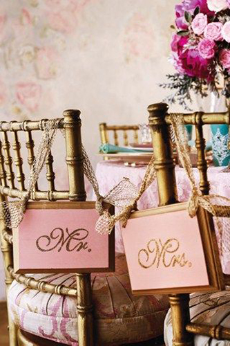 Bride & Groom Seat Sign