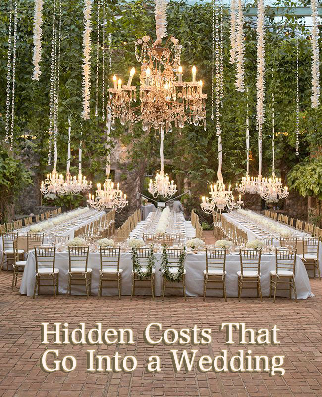 Hidden Costs That Go Into A Wedding Wedding Planning Design The
