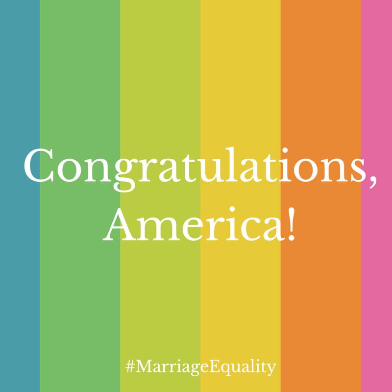 Congratulations, America!