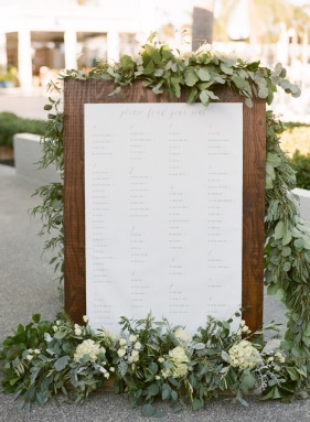 greenery seating chart