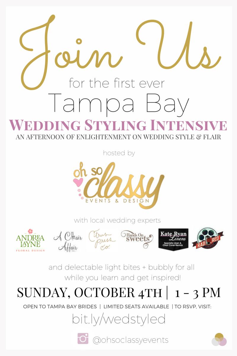 Tampa Wedding Planner Styling Decor Bridal Workshop